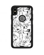 Looney Squad Black and White Grid Otterbox Commuter iPhone Skin