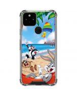 Looney Tunes Beach Google Pixel 5 Clear Case