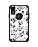 Looney Tunes Big Head Pattern Otterbox Defender iPhone Skin