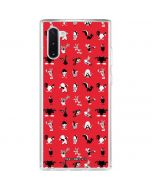Looney Tunes Identity Red Pattern Galaxy Note 10 Clear Case