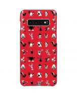 Looney Tunes Identity Red Pattern Galaxy S10 Plus Lite Case