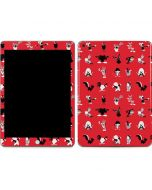 Looney Tunes Identity Red Pattern Apple iPad Skin