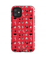 Looney Tunes Identity Red Pattern iPhone 11 Impact Case