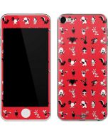 Looney Tunes Identity Red Pattern Apple iPod Skin