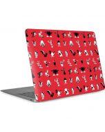 Looney Tunes Identity Red Pattern Apple MacBook Air Skin
