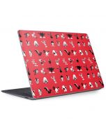 Looney Tunes Identity Red Pattern Surface Laptop 3 13.5in Skin
