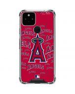 Los Angeles Angels - Cap Logo Blast Google Pixel 5 Clear Case