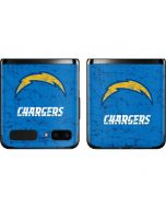 Los Angeles Chargers - Alternate Distressed Galaxy Z Flip Skin