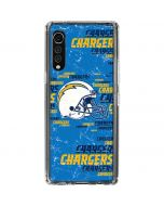 Los Angeles Chargers - Blast LG Velvet Clear Case