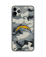 Los Angeles Chargers Camo iPhone 11 Pro Max Skin