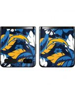 Los Angeles Chargers Tropical Print Galaxy Z Flip Skin