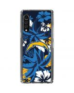 Los Angeles Chargers Tropical Print LG Velvet Clear Case