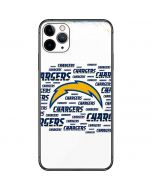 Los Angeles Chargers White Blast iPhone 11 Pro Max Skin