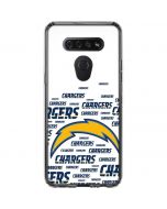Los Angeles Chargers White Blast LG K51/Q51 Clear Case