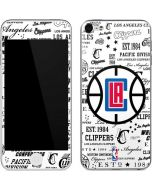 Los Angeles Clippers Blast Logos Apple iPod Skin
