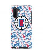 Los Angeles Clippers Blast Text Galaxy Note 10 Pro Case