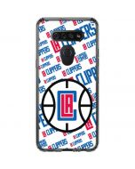 Los Angeles Clippers Blast Text LG K51/Q51 Clear Case