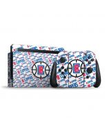Los Angeles Clippers Blast Text Nintendo Switch Bundle Skin