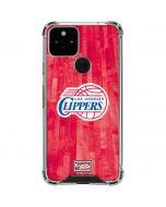 Los Angeles Clippers Hardwood Classics Google Pixel 5 Clear Case