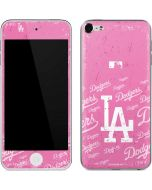 Los Angeles Dodgers - Pink Cap Logo Blast Apple iPod Skin