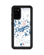 Los Angeles Dodgers - White Primary Logo Blast Galaxy S20 Waterproof Case