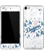 Los Angeles Dodgers - White Primary Logo Blast Apple iPod Skin
