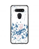 Los Angeles Dodgers - White Primary Logo Blast LG K51/Q51 Clear Case