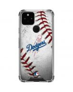 Los Angeles Dodgers Game Ball Google Pixel 5 Clear Case