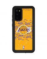 Los Angeles Lakers Blast Galaxy S20 Waterproof Case