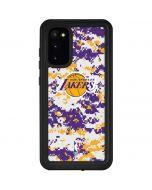Los Angeles Lakers Digi Camo Galaxy S20 Waterproof Case