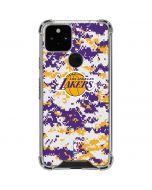 Los Angeles Lakers Digi Camo Google Pixel 5 Clear Case