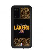 Los Angeles Lakers Elephant Print Galaxy S20 Waterproof Case