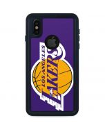 Los Angeles Lakers Large Logo iPhone X Waterproof Case