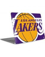 Los Angeles Lakers Large Logo Apple MacBook Air Skin