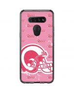 Los Angeles Rams Pink Logo Blast LG K51/Q51 Clear Case