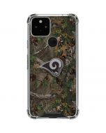 Los Angeles Rams Realtree Xtra Green Camo Google Pixel 5 Clear Case