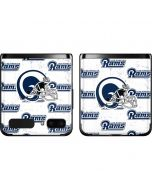 Los Angeles Rams White Logo Blast Galaxy Z Flip Skin