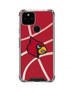 Louisville Red Basketball Google Pixel 5 Clear Case