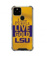 Love Purple Live Gold LSU Google Pixel 5 Clear Case