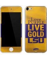 Love Purple Live Gold LSU Apple iPod Skin