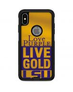 Love Purple Live Gold LSU Otterbox Commuter iPhone Skin
