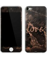Love Rose Gold Black Apple iPod Skin