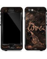 Love Rose Gold Black LifeProof Nuud iPhone Skin