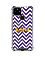 LSU Chevron Print Google Pixel 5 Clear Case