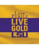 Love Purple Live Gold LSU Amazon Echo Skin