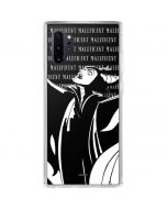 Maleficent Black and White Galaxy Note 10 Plus Clear Case
