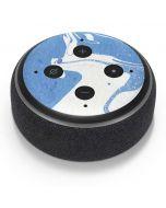 Marbleized Blue Amazon Echo Dot Skin