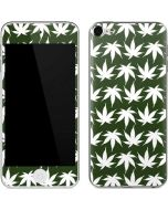 Marijuana Leaf White Pattern Apple iPod Skin