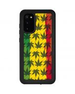 Marijuana Rasta Pattern Galaxy S20 Waterproof Case
