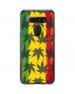 Marijuana Rasta Pattern LG K51/Q51 Clear Case